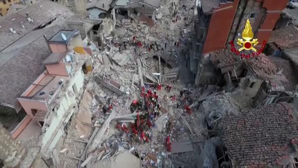 Terremoto Amatrice Rieti Distrutta 24 Agosto 2016