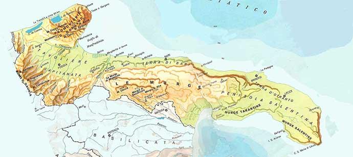 Puglia Cartina Geografica Politica.Puglia Cartina