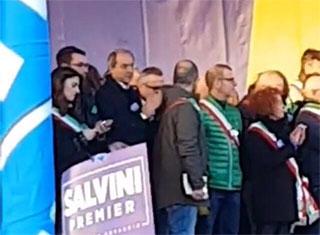 Giorgino a Firenze sul palco con gli altri sindaci