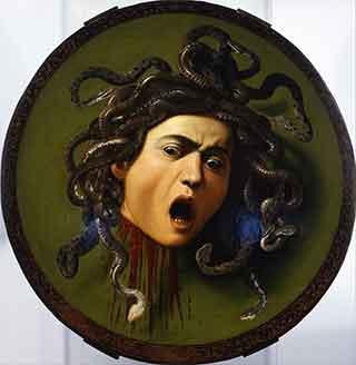 """Michelangelo Merisi detto il Caravaggio, """"Testa della Medusa"""