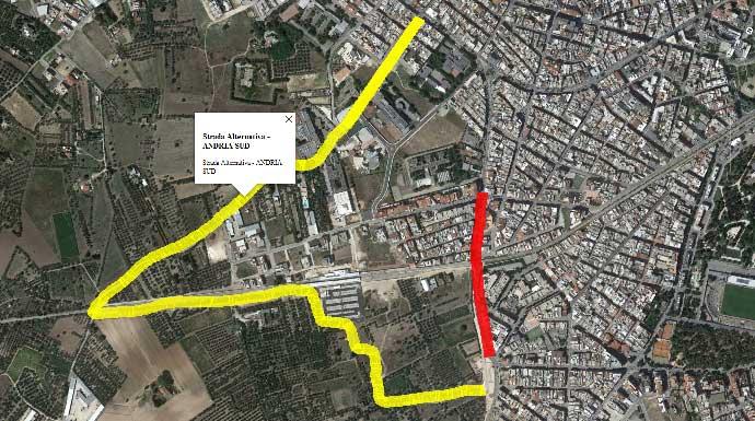 Andria, Via Bisceglie: strada alternativa c'è ma non si può utilizzare — Foto e Video