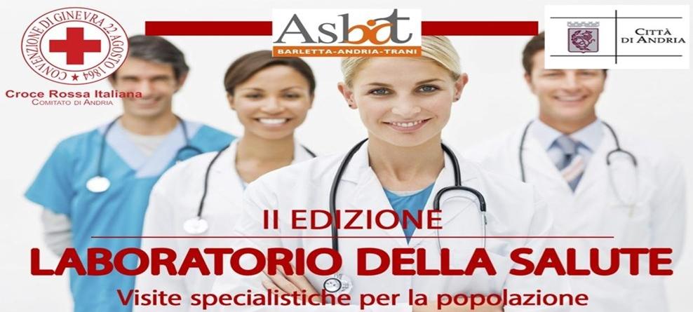 """Domenica 9 aprile visite mediche gratuite con il """"Laboratorio della Salute"""" al Palazzetto dello Sport di Andria"""