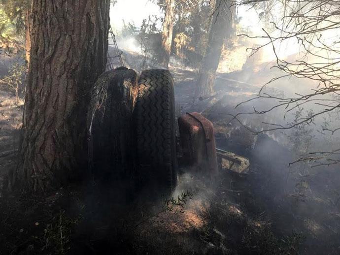 A fuoco discarica, incendio a Montelabbate