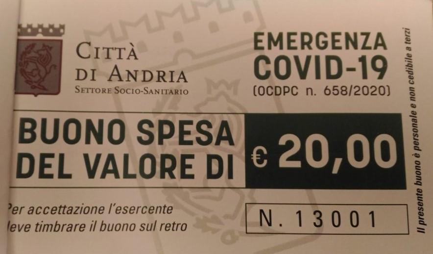 Andria Buoni Spesa Ecco L Elenco Ufficiale Aggiornato Al 24 Aprile Degli Esercizi Convenzionati