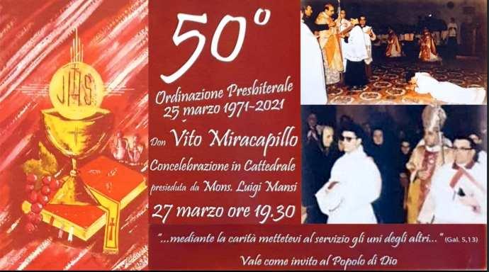 50 anni sacerdozio andria