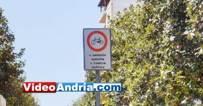 divieto bici elettriche andria