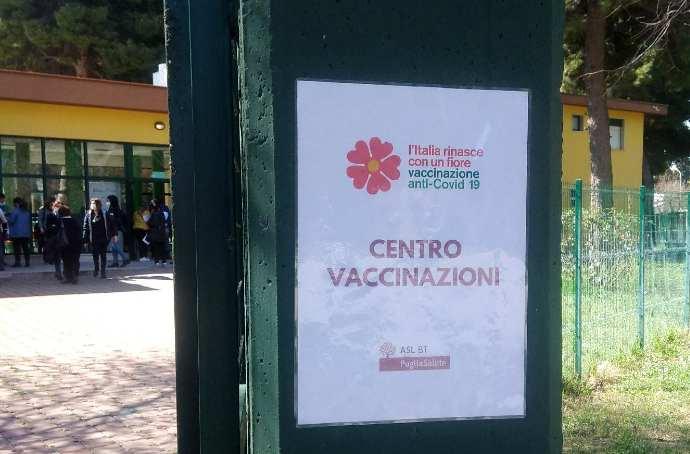 hub vaccinazioni centro dopo di noi villa comunale Andria