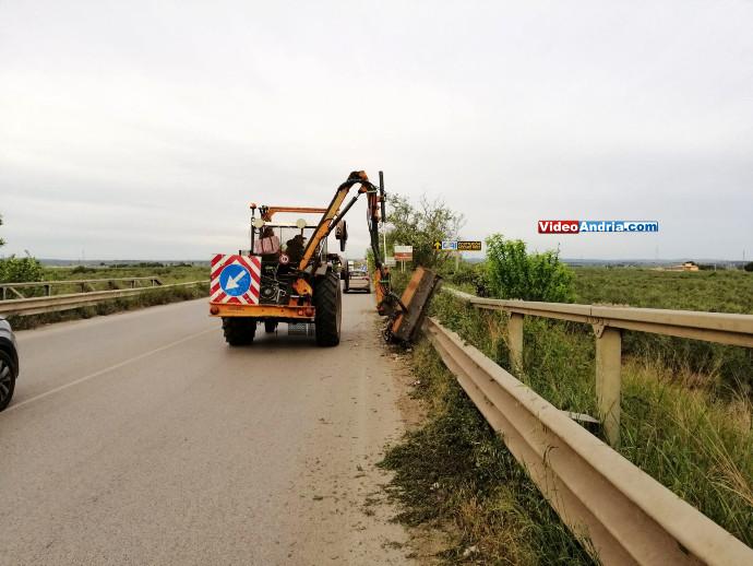 strada tangenziale andria lavori rimozioni erbacce