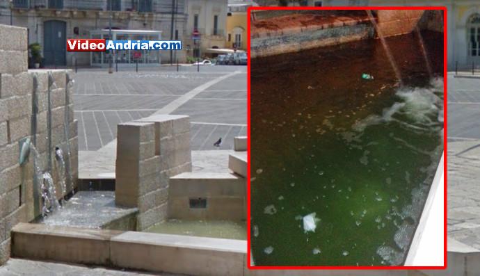 acqua sporca andria fontana piazza catuma