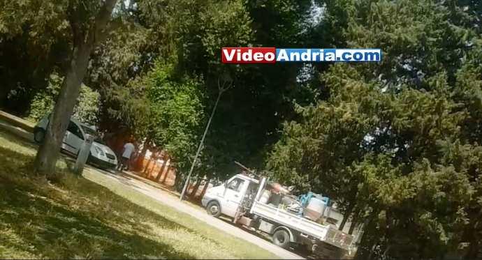 crollo villa comunale tecnici andria