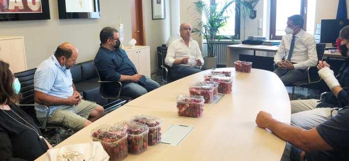 incontro pentassuglia-zullo-produttori ciliegie 2(1)