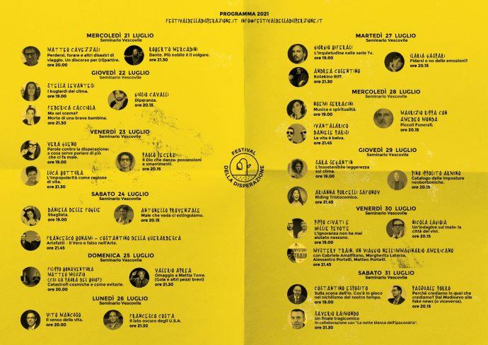 Programma web Festival della Disperazione