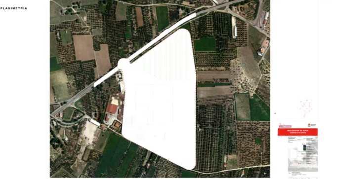 area progetto nuovo ospedale di Andria contrada macchia di rose