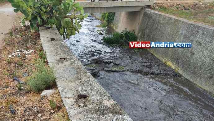 canalone andria ciappetta camaggio inquinamento acqua nera