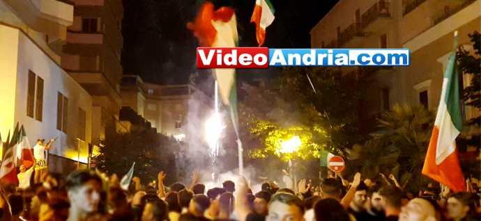festeggiamenti italia spagna europei andria tifosi via alcide de gasperi