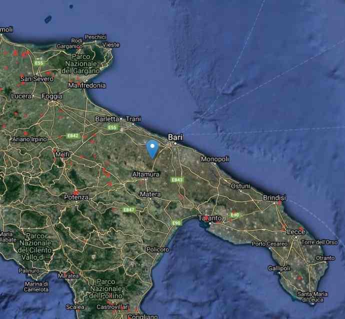 La mappa dei roghi attivi in Puglia nasa agosto 2021