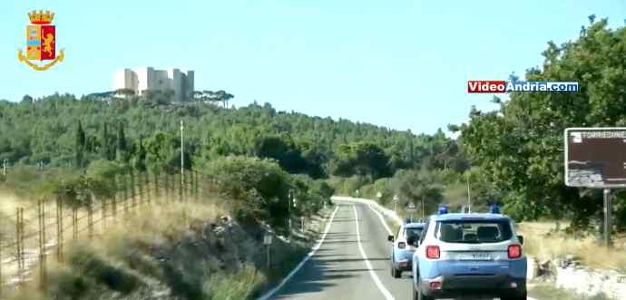 polizia di stato controlli andria castel del monte strada statale 170 puglia